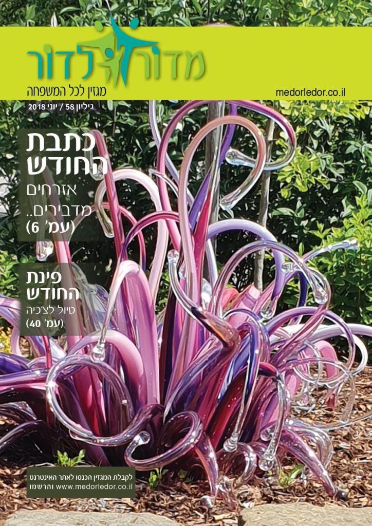 כריכת מגזין מדור לדור 58