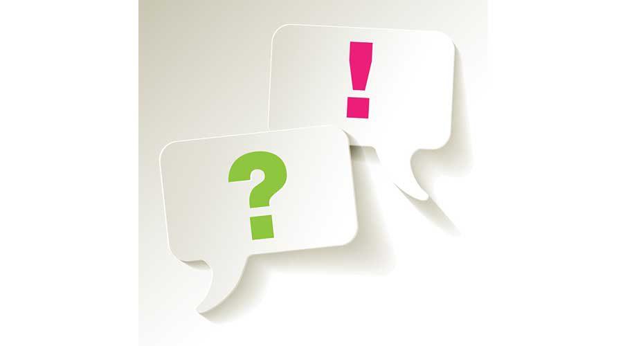 סימן שאלה וסימן קריאה על בלוני שיחה