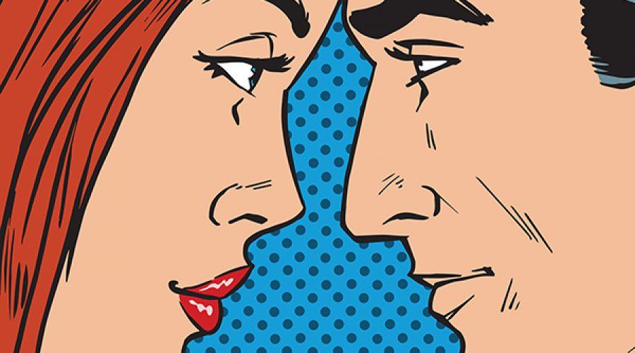 איור ראשי גבר ואישה