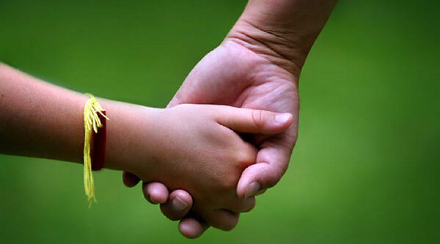 זוג ידיים שלובות