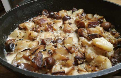 תבשיל של תפוחי אדמה וערמונים