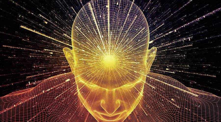 אילוסטרצית תודעה בראש אדם