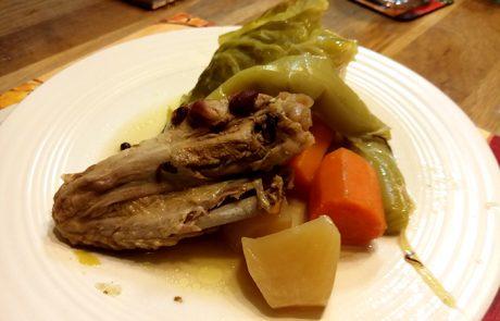 תבשיל חורפי של ברווז עם ירקות – Pot-au-feu de canard