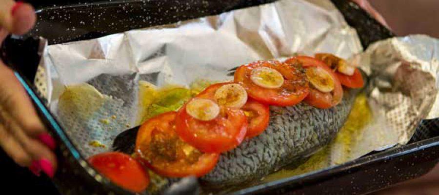 דג ברמונדי אפוי בתנור