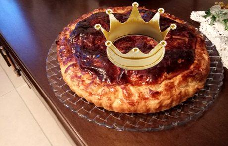 טארט עם מילוי קרם שקדים – galette des rois