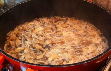 פילאף אורז עם פטריות