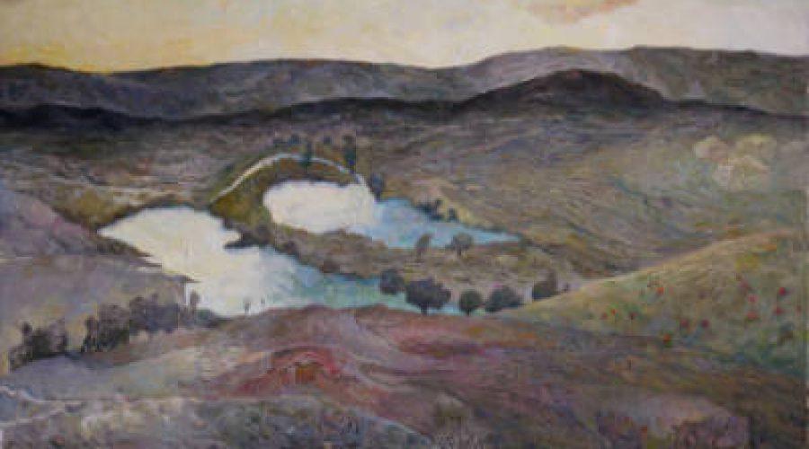 ציור נוף - ליזה זברסקי על המפתן