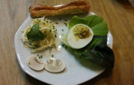 ביצה מימוזה עם פטריות- Oeuf Mimosa aux champignons