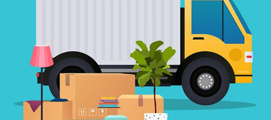 ציור משאית להעברת דירה